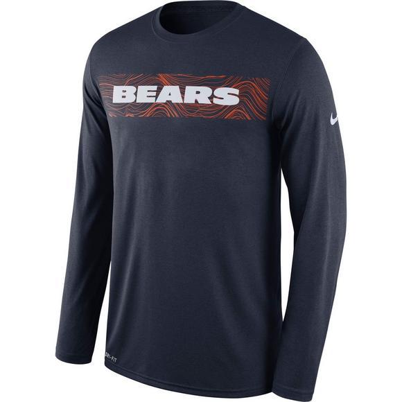 42e21f14 Nike Men's Chicago Bears Dri-Fit Legend Seismic Long Sleeve T-Shirt - Main