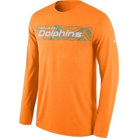 5955f906a Nike Men's Miami Dolphins Dri-Fit Legend Seismic Long Sleeve T-Shirt - Main