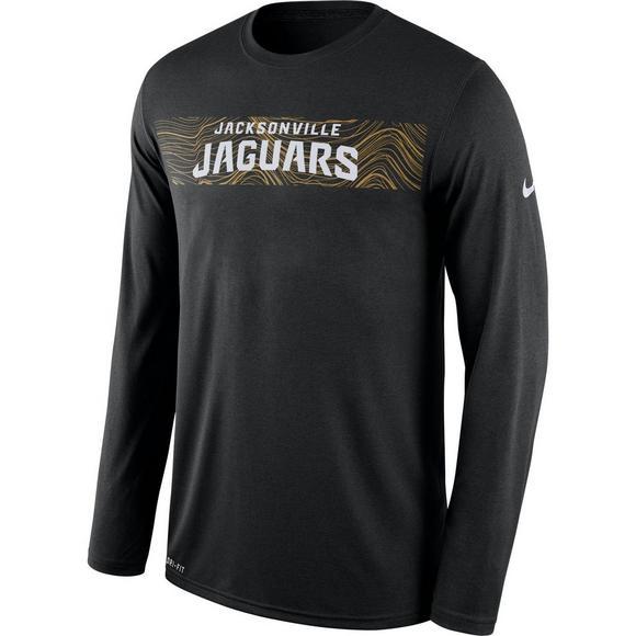 97d9d2ccd Nike Men's Jacksonville Jaguars Dri-Fit Legend Seismic Long Sleeve T-Shirt  - Main