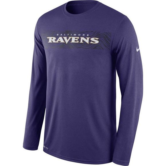 04532fca754 Nike Men's Baltimore Ravens Legend Sideline Seismic Graphic Long Sleeve T- Shirt - Main Container