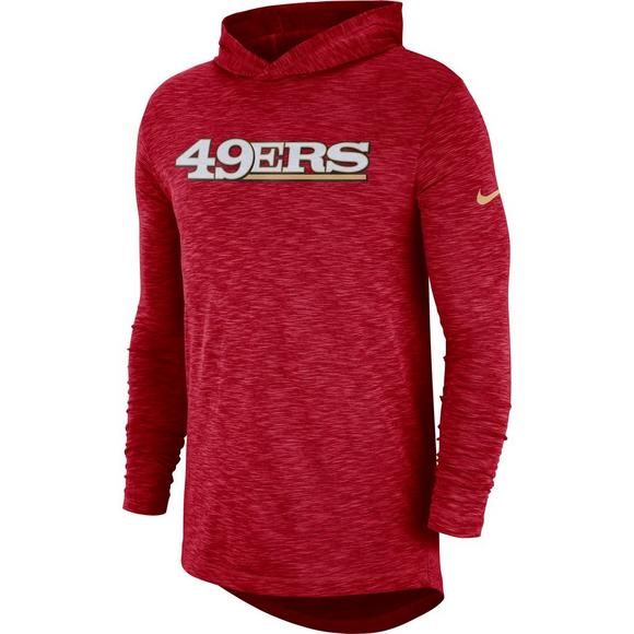 cf9526ea553 Nike Men s San Francisco 49ers Long Sleeve Hoodie T-Shirt - Main Container  Image 1