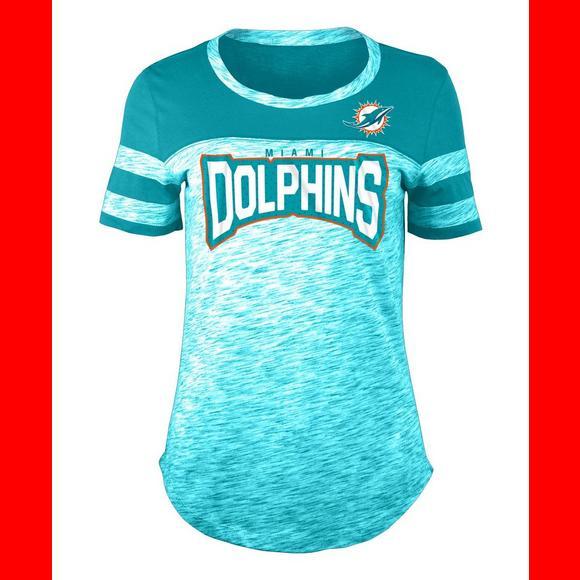 New Era Women's Miami Dolphins Space Dye Jersey T Shirt Hibbett US