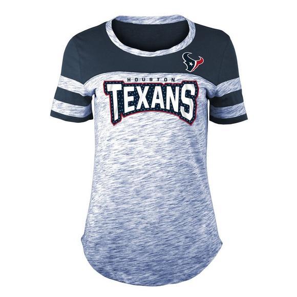 quality design 60dbc e6b92 New Era Women's Houston Texans Space Dye Jersey T-Shirt