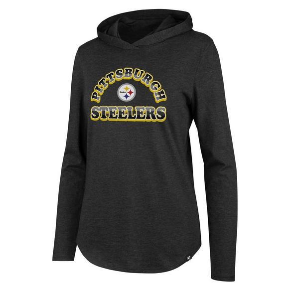 341ee580 47 Brand Women's Pittsburgh Steelers Club Long Sleeve Hoodie Tee ...