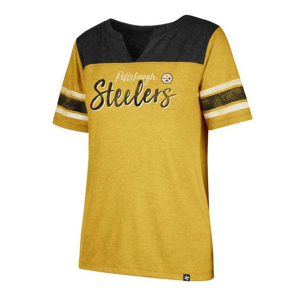 bc59b5586  47 Brand Women s Pittsburgh Steelers Match Tri-Blend Short Sleeve T-Shirt -