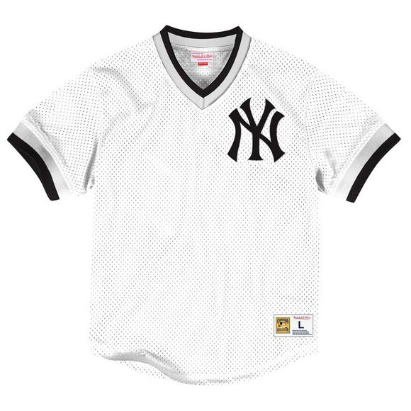 7d723f47281 Mitchell & Ness Men's New York Yankees Mesh V-Neck Jersey - Main Container  Image