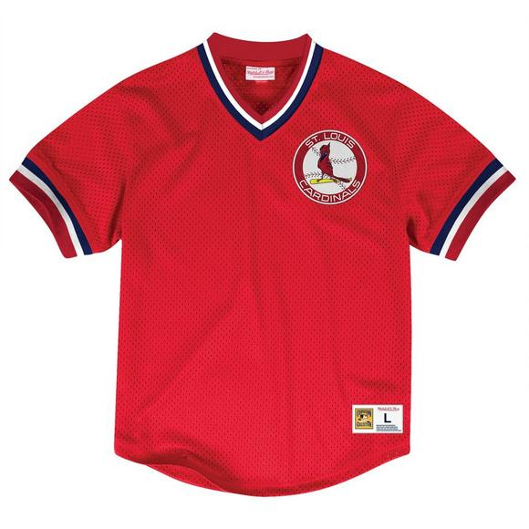 best service 5e2fa 7f3b4 Mitchell & Ness Men's St. Louis Cardinals Mesh V-Neck Jersey