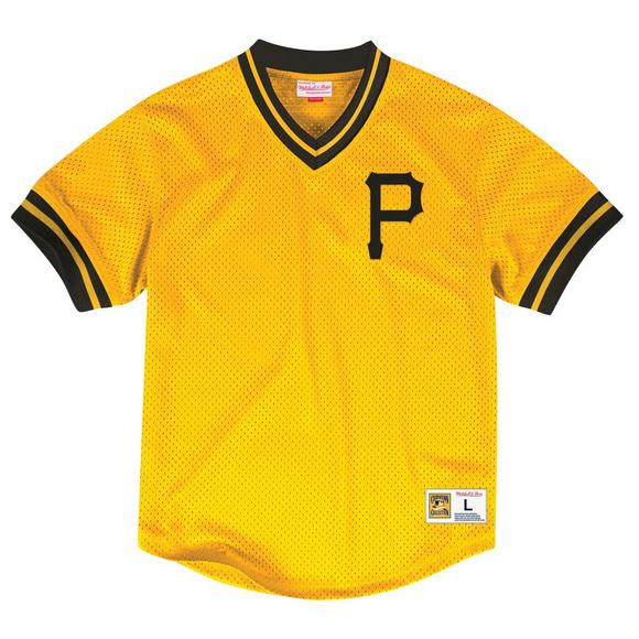 7a71cd144eeb2 Mitchell   Ness Men s Pittsburgh Pirates Mesh V-Neck Jersey - Main  Container ...