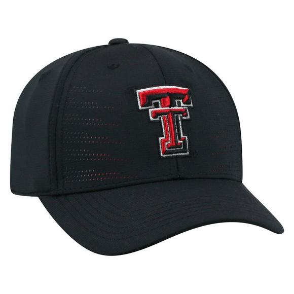 size 40 59e82 d8efa Top of the World Texas Tech Red Raiders Dazed 1Fit Black Stretch-Fit Hat -