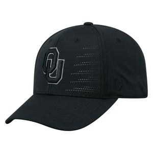 2e4fa07c97d Top of the World Oklahoma Sooners Dazed 1Fit Black Stretch-Fit Hat