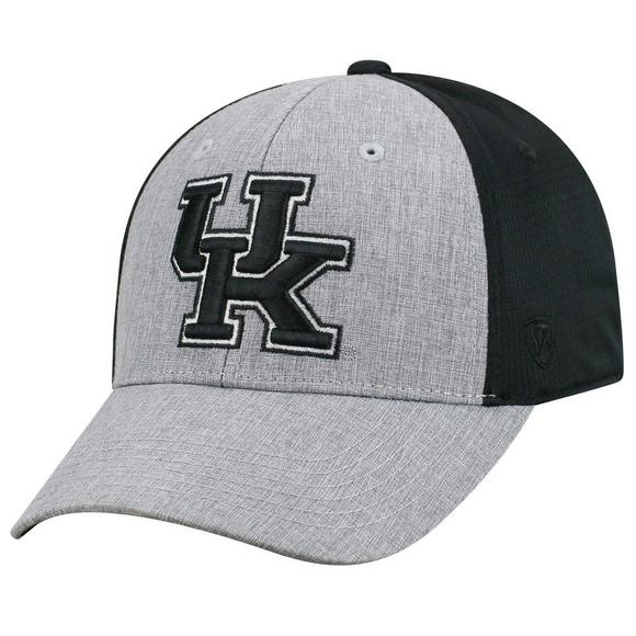 new arrival 97abb b2823 Top of the World Kentucky Wildcats Faboo 1Fit Grey Black Stretch-Fit Hat -