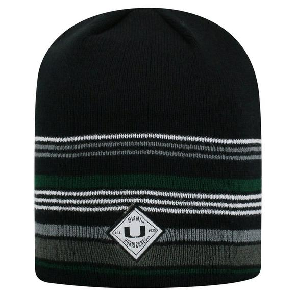 01eadf0182c Top of the World Miami Hurricanes Avenue Knit Beanie - Main Container Image  1
