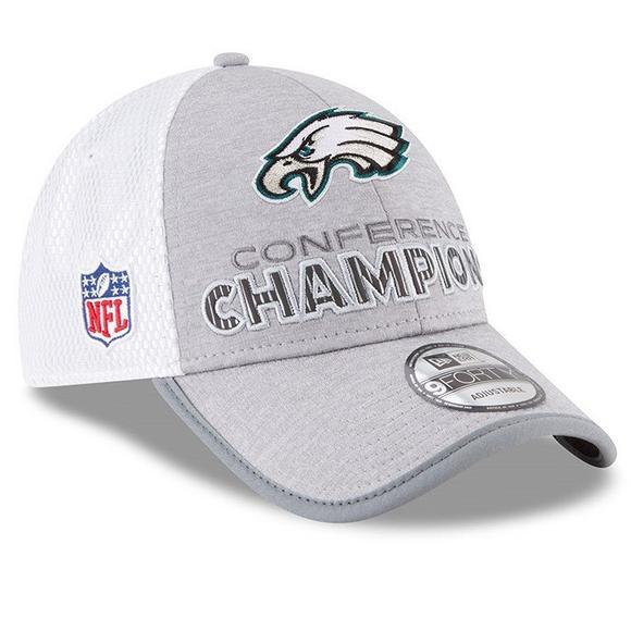 official photos 6e7d4 421e7 New Era Philadelphia Eagles 9FORTY Super Bowl LII Conference Champions  Adjustable Hat