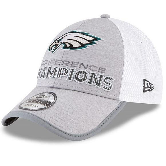 promo code cd80c 19a72 New Era Philadelphia Eagles 9FORTY Super Bowl LII Conference Champions  Adjustable Hat - Main Container Image