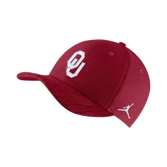 6a1b01f1 Jordan Oklahoma Sooners Classic 99 Sideline Adjustable Strap Hat - Main  Container Image 1