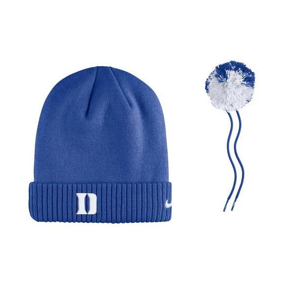 a41c5031196 Nike Duke Blue Devils Sideline Pom Knit Beanie - Main Container Image 3