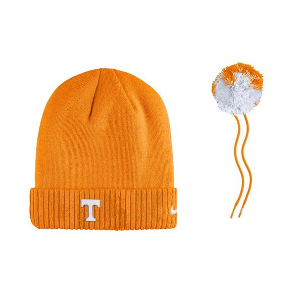 best service 28026 57ba5 Nike Tennessee Vols Sideline Pom Knit Beanie - Main Container Image 3