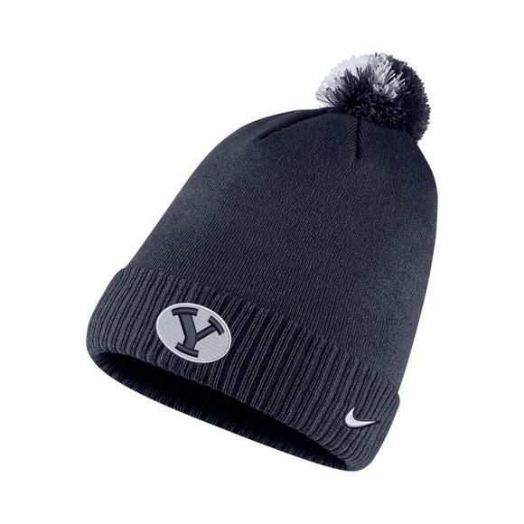 Nike BYU Cougars Sideline Pom Knit Beanie - Main Container Image 1 cc91d7f06c85