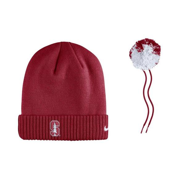 543e0ae471f Nike Stanford Cardinal Sideline Pom Knit Beanie - Main Container Image 3