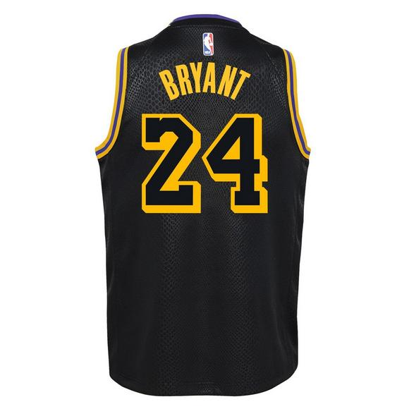 Nike Youth K. Bryant Los Angeles Lakers No. 24 City Edition Swingman Jersey  - 9f3b5e6ee