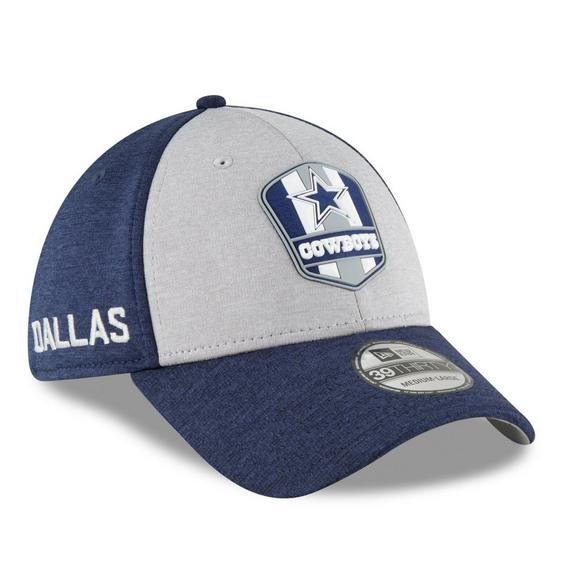 detailing e774a 90f9a New Era Dallas Cowboys 39THIRTY Road Sideline Stretch Fit Hat - Main  Container Image 2