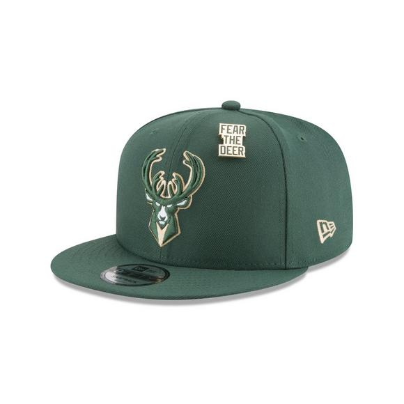 buy popular 075cd e18d8 New Era Milwaukee Bucks Draft 9FIFTY Snapback Hat - Main Container Image 1