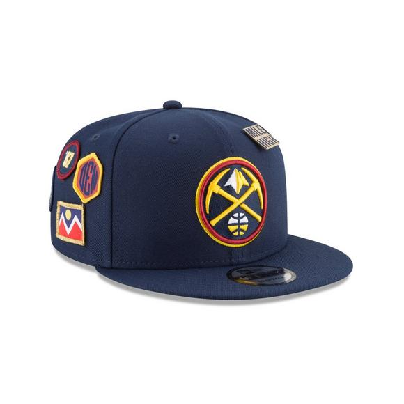 online retailer 6c8b5 d56e0 New Era Denver Nuggets Draft 9FIFTY Snapback Hat - Main Container Image 2