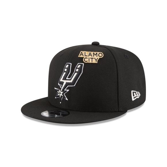 new product 38d83 1d173 New Era San Antonio Spurs Draft 9FIFTY Snapback Hat - Main Container Image 1