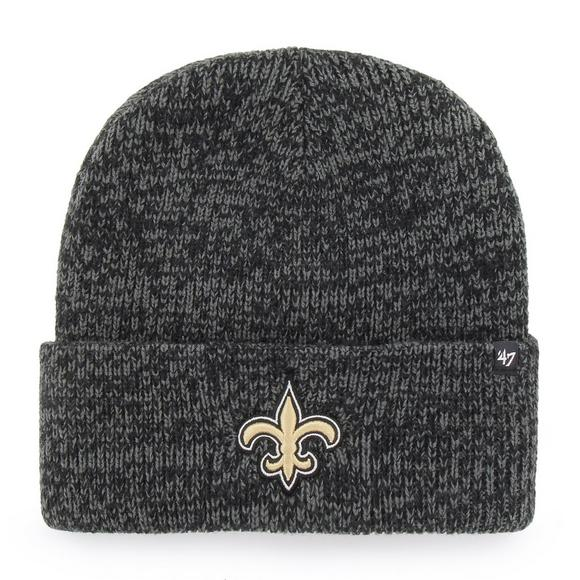 47 Brand New Orleans Saints Brain Freeze Cuff Knit Beanie - Main Container  Image 1.   39d2e56bd