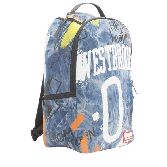 3aa4f48720d8 Sprayground Russell Westbrook Denim Backpack - Main Container Image 2