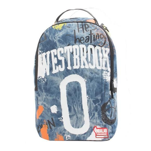 49b88628d53 Sprayground Russell Westbrook Denim Backpack - Main Container Image 1
