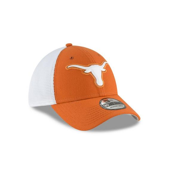 fe41ce67796 New Era Texas Longhorns 39THIRTY Fan Mesh Stretch Fit Hat - Main Container  Image 2