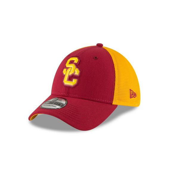 newest collection 6ad2a 8133f New Era USC Trojans 39THIRTY Fan Mesh Stretch Fit Hat - Main Container  Image 1