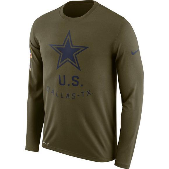 Nike Men s Dallas Cowboys Salute to Service Dri-Fit Legend Long Sleeve Tee  - Main baf6ece84