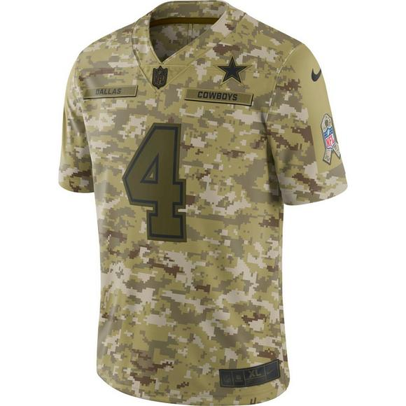 hot sale online d0365 b2fa6 Nike Men's Dallas Cowboys D. Prescott Salute to Service ...