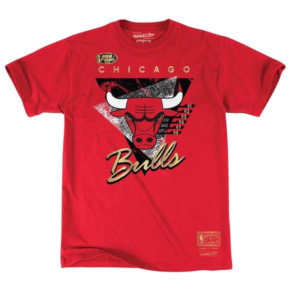a72c74df0f6 Mitchell & Ness Men's Chicago Bulls Elevated Gold Short Sleeve T-Shirt -  Main Container