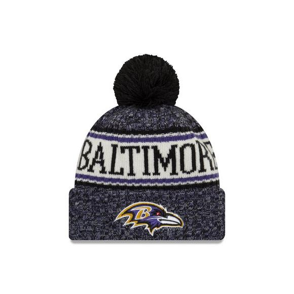 067fa197d6c853 New Era Baltimore Ravens Sport Knit NFL Beanie - Main Container Image 1