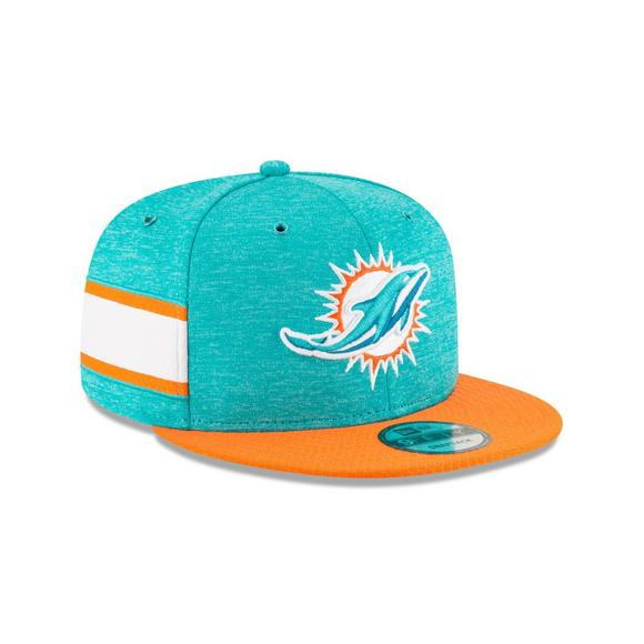 newest collection f530c dc0a9 New Era Miami Dolphins Sideline 9FIFTY Snapback Hat - Main Container Image 2