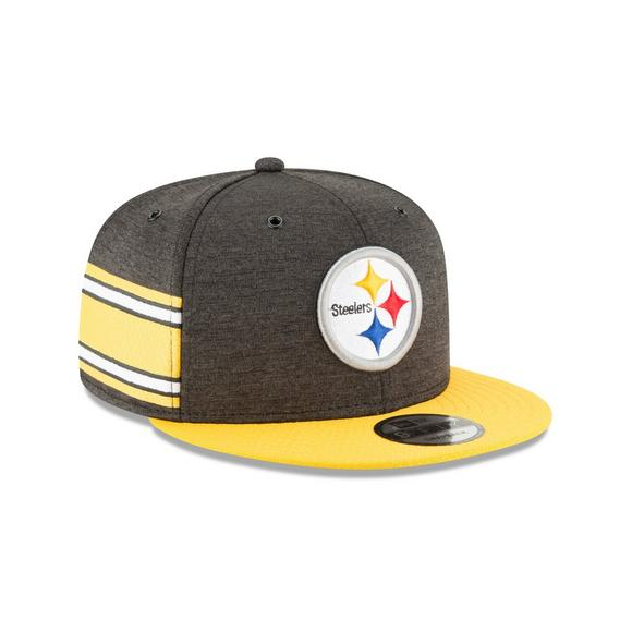 255541351 New Era Pittsburgh Steelers Sideline 9FIFTY Snapback Hat - Main Container  Image 2