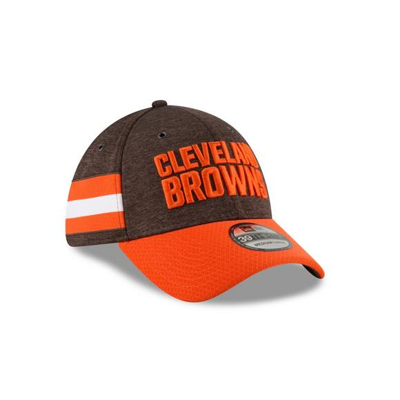 6c7b4500507 New Era Cleveland Browns Sideline 39THIRTY Stretch Fit Hat - Main Container  Image 2