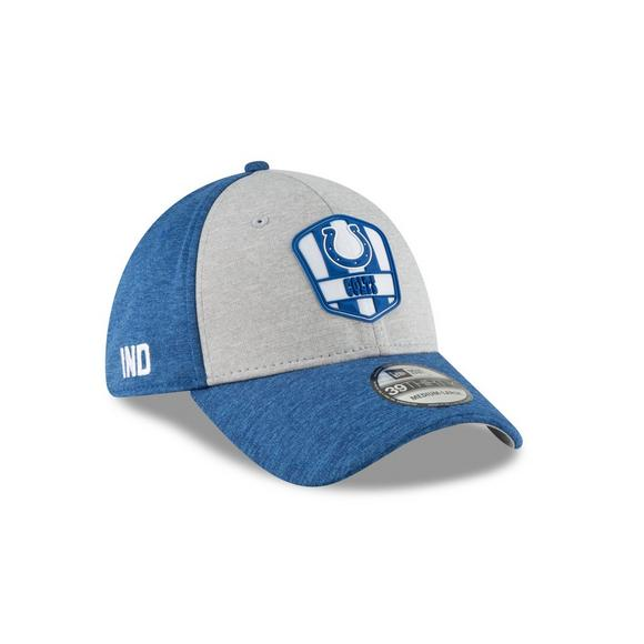 New Era Indianapolis Colts Sideline 39THIRTY Stretch Fit Hat - Main  Container Image 2 e1e94744476