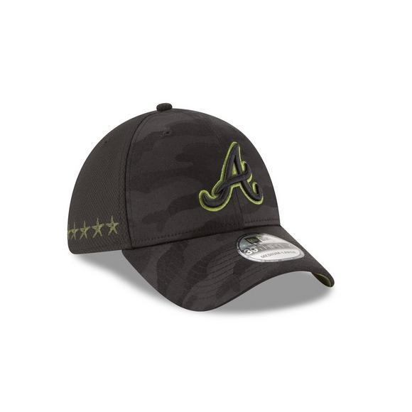 save off 65b23 c9697 New Era Atlanta Braves Memorial Day 39THIRTY Stretch Fit Hat - Main  Container Image 2