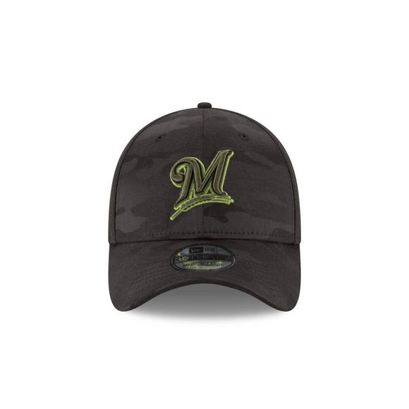 huge discount 9fd80 ea0ef ... new arrivals new era milwaukee brewers memorial day 39thirty stretch  fit hat main container image 3 ...