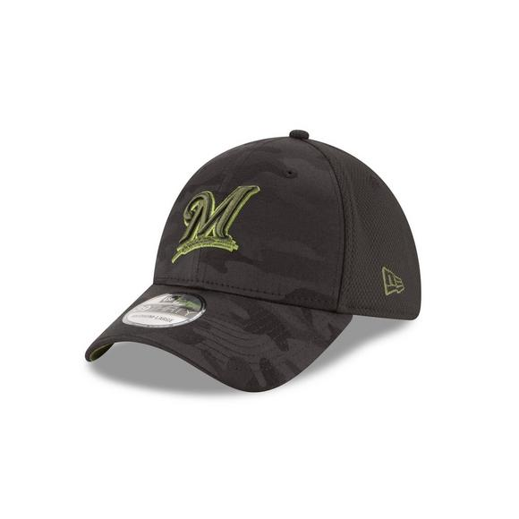 half off 2b2db b4ffa New Era Milwaukee Brewers Memorial Day 39THIRTY Stretch Fit Hat - Main  Container Image 1