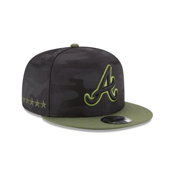 newest ca92f 8b8ac New Era Atlanta Braves Memorial Day 9FIFTY Snapback Hat - Main Container  Image 2