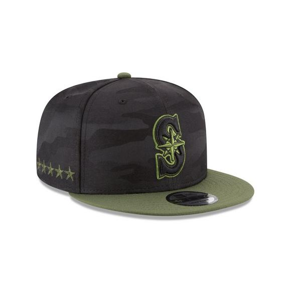 best service 5b356 92f7b New Era Seattle Mariners Memorial Day 9FIFTY Snapback Hat - Main Container  Image 2