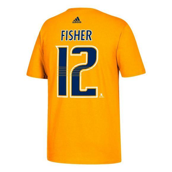 low priced 500d6 945c2 adidas Men's Nashville Predators Mike Fisher Name & Number T-Shirt