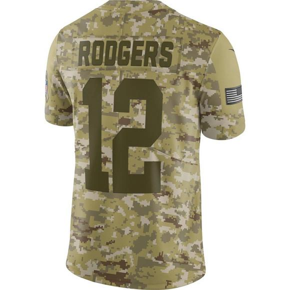 quality design 133d8 1349c Nike Men's Green Bay Packers Aaron Rodgers Salute to Service ...