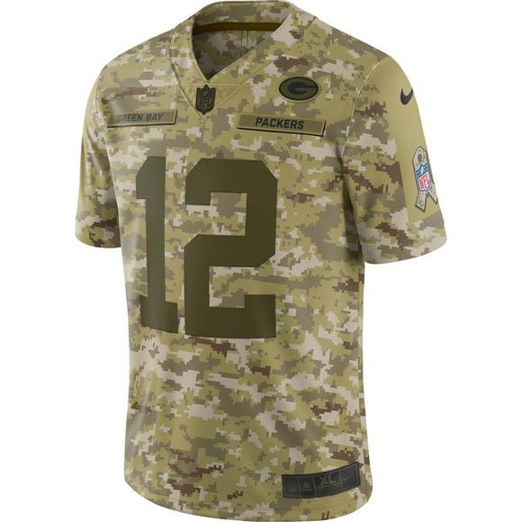 quality design 1aa57 c61c5 Nike Men's Green Bay Packers Aaron Rodgers Salute to Service ...