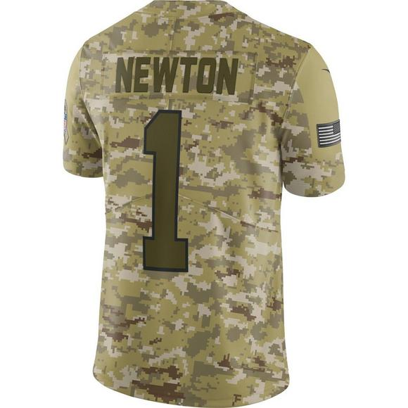 timeless design ec5c9 ae686 Nike Men's Carolina Panthers Cam Newton Salute to Service ...